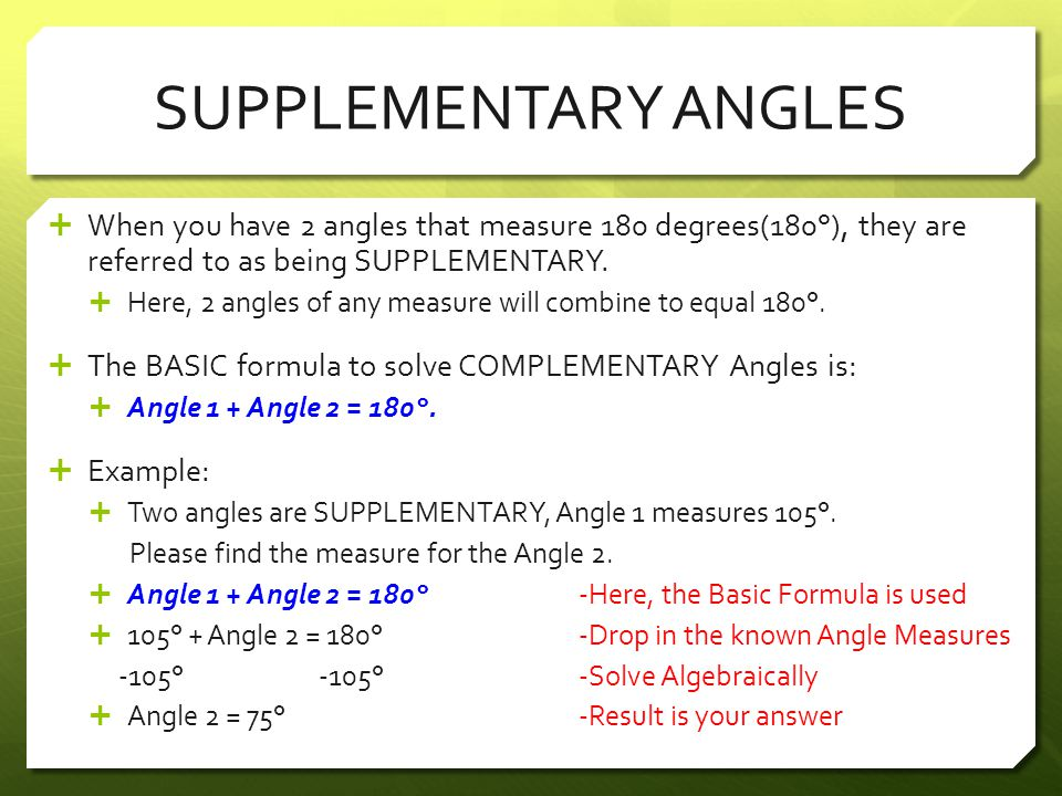 Complementary supplementary angles worksheet answers