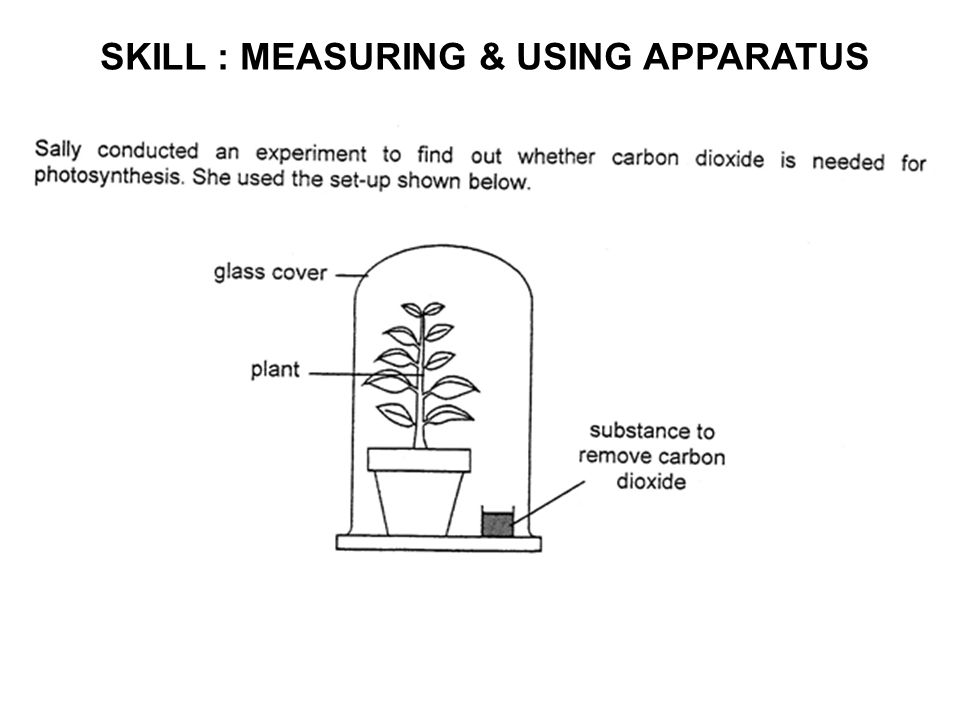 SKILL : MEASURING & USING APPARATUS