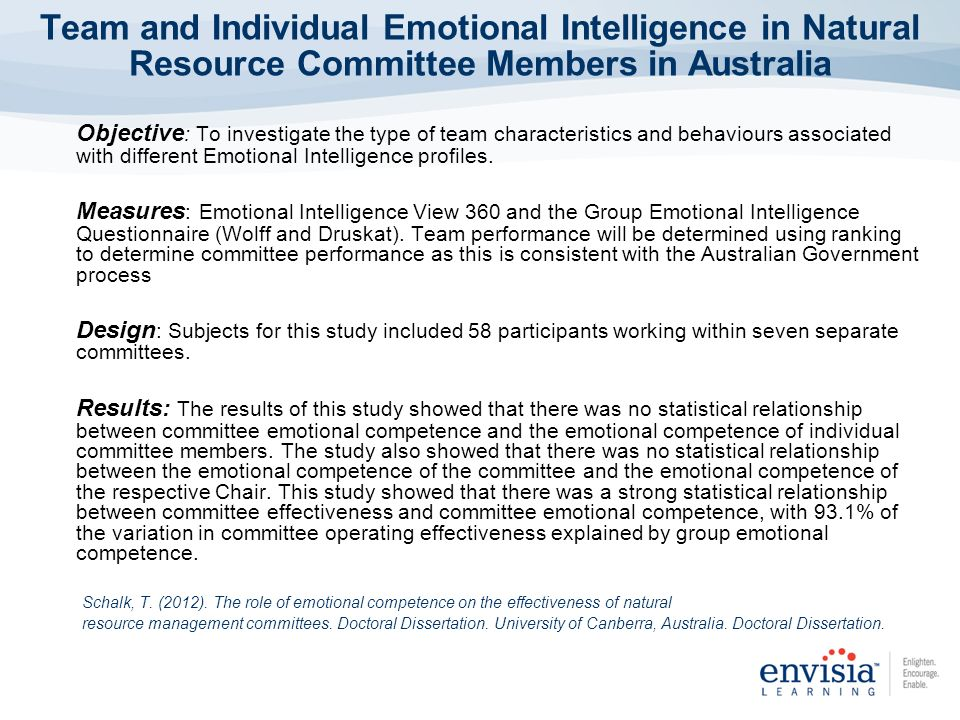 emotional intelligence - dissertation abstracts