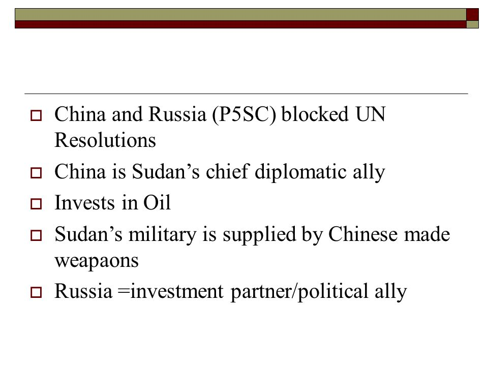 China and Russia (P5SC) blocked UN Resolutions
