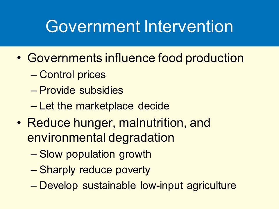 government intervention in education and the environment Environment and it should act to alleviate the negative services and education as well government intervention is needed.