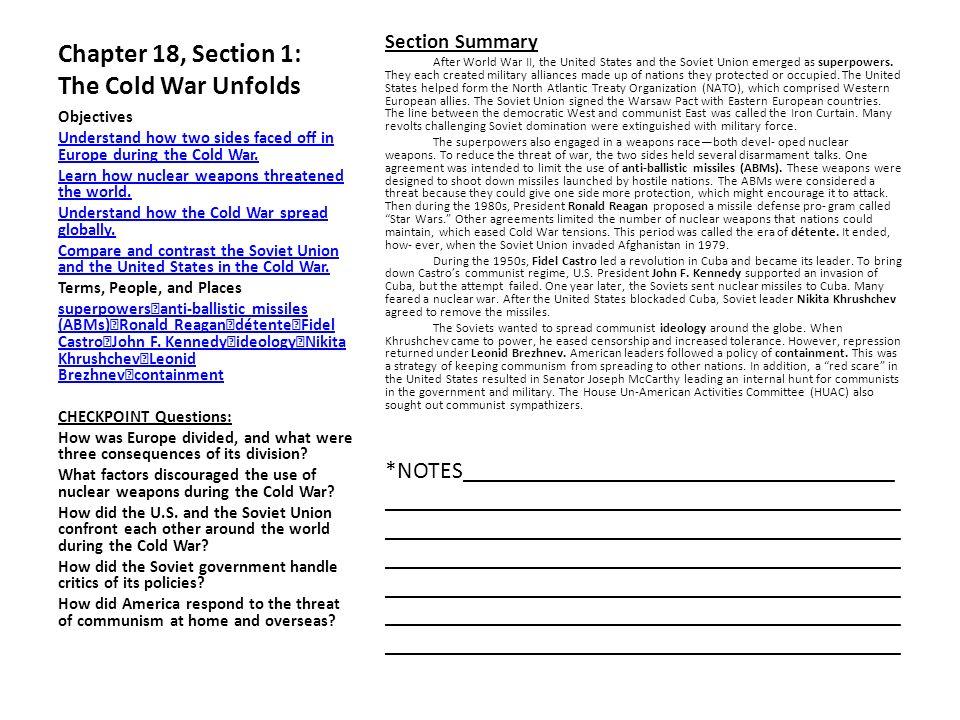 chapter 18 section 1 the cold war unfolds ppt video online download. Black Bedroom Furniture Sets. Home Design Ideas
