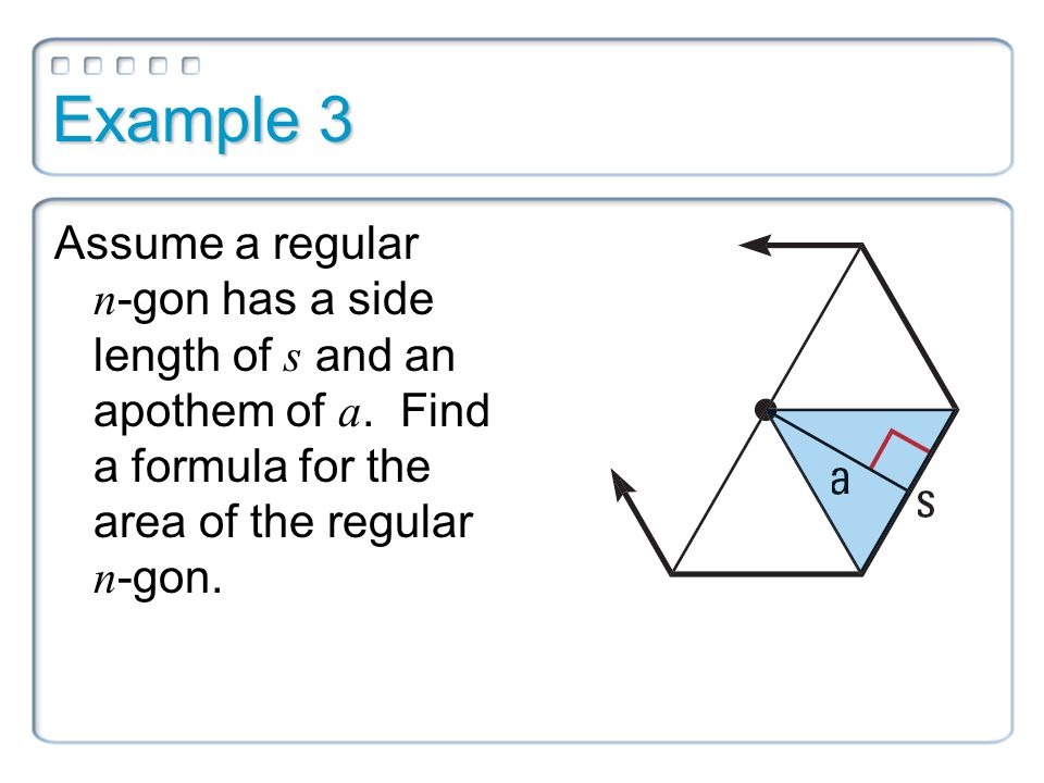 math worksheet : example 1 explain how you could find the area of the regular  : Apothem Area Formula