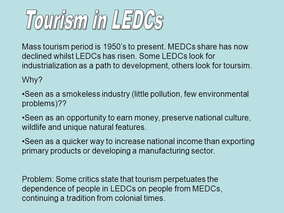 tourism in developing countries ppt