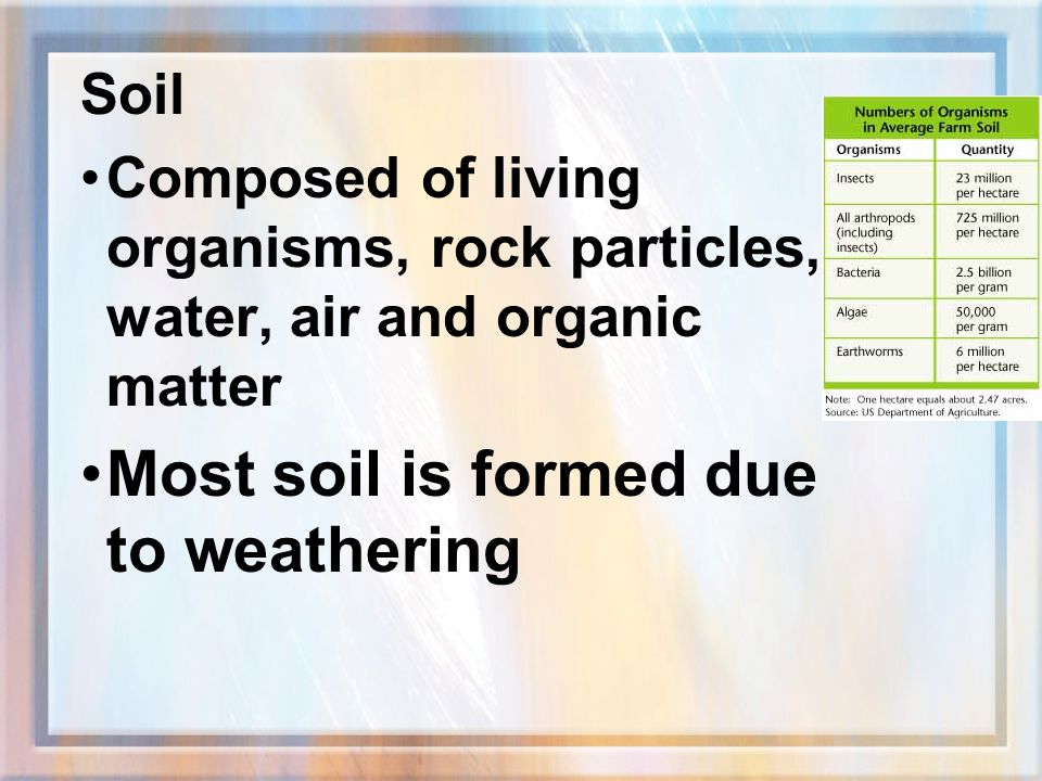 Most soil is formed due to weathering