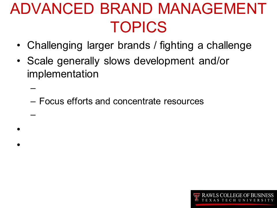advanced brand management Get this from a library advanced brand management : managing brands in a changing world [paul temporal] -- paul temporal has written a remarkably insightful book on how to build strong brands he addresses every issue in brand management with sound theories and marvelous examples.