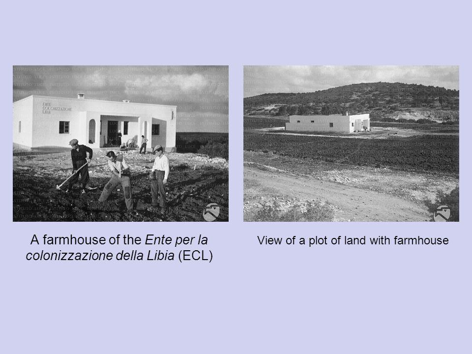 A farmhouse of the Ente per la colonizzazione della Libia (ECL)