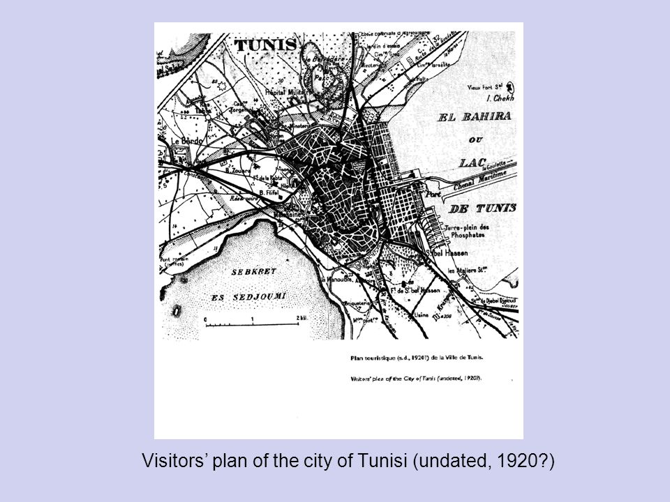 Visitors' plan of the city of Tunisi (undated, 1920 )