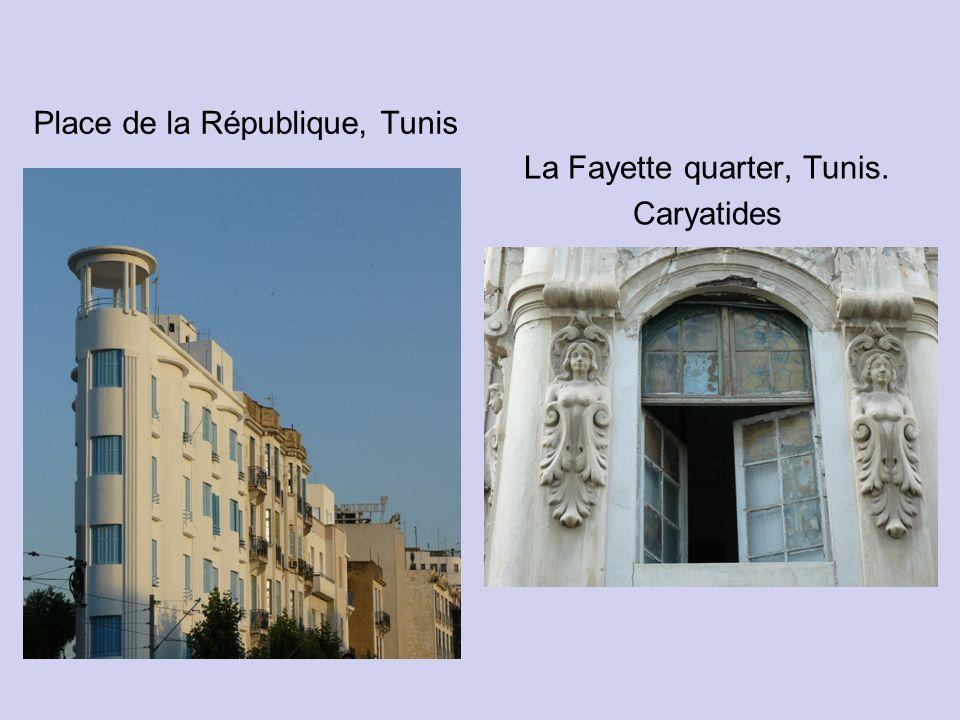 Place de la République, Tunis La Fayette quarter, Tunis. Caryatides