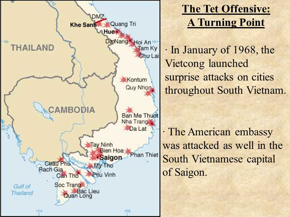 tet offensive reason for the united Though a crushing defeat for the communists, the tet offensive turned the tide in vietnam and america although the attackers were all killed or captured, the television news footage of the battle on the embassy grounds shocked viewers back home in the united states nearly a thousand viet cong.
