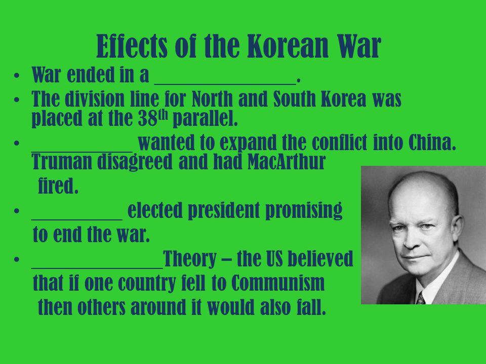 effects of korean war