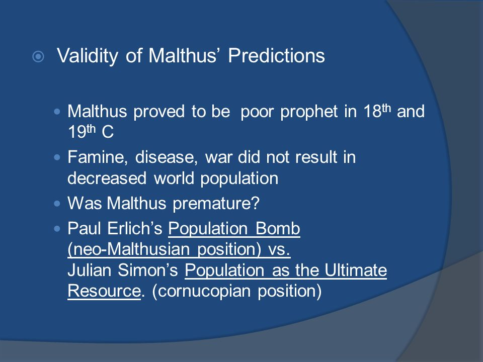 neo malthusian vs malthusian Advertisements: read this article to learn about the malthusian theory of population: criticisms and applicability thomas robert malthus enunciated his views about population in his famous.