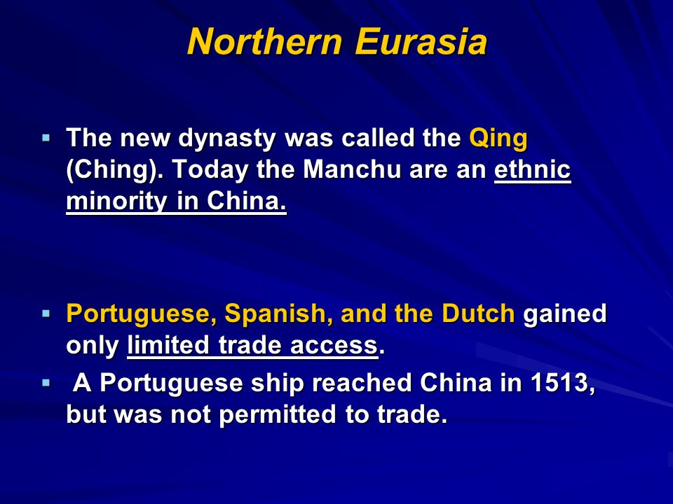 Chapter 20: Northern Eurasia, 1500-1800 Flashcards