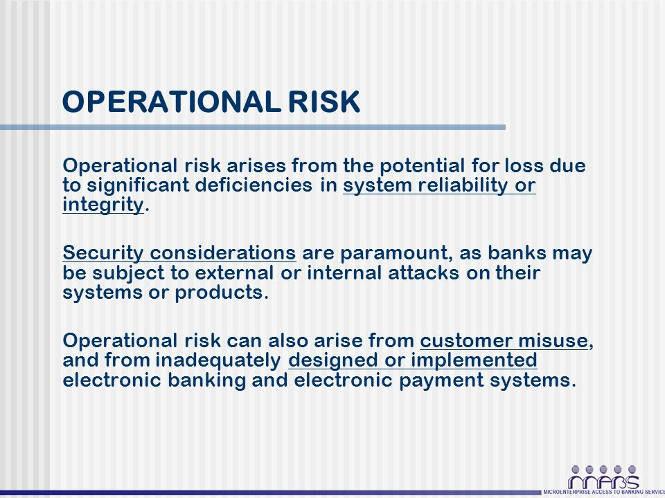 operational risk in payment system