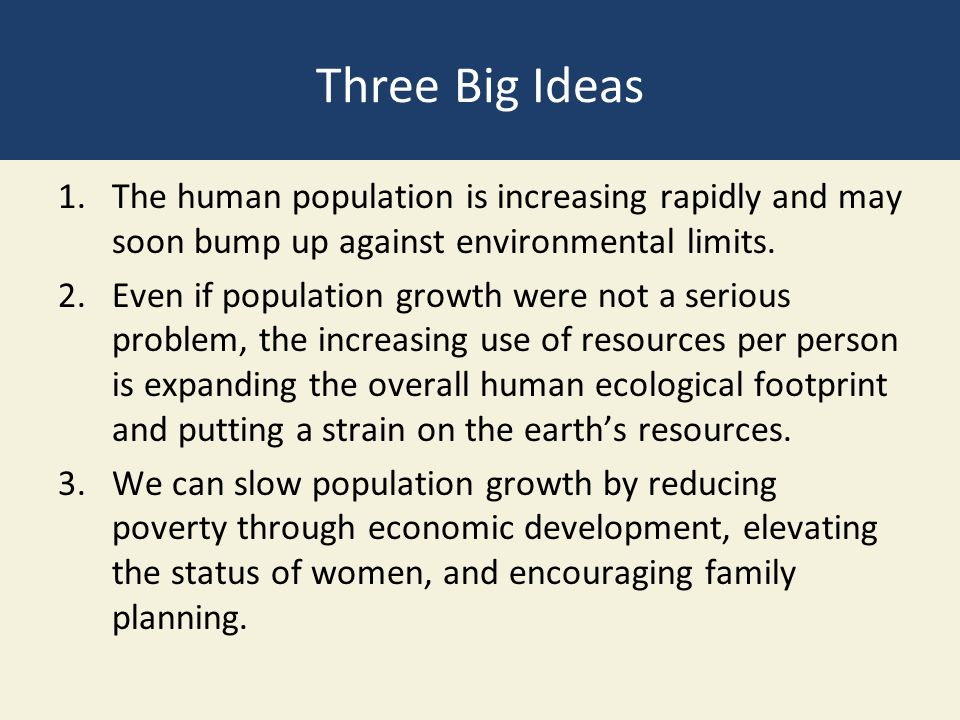 the issue of population growth and its limits 2016 population & environment freshwater limits population growth and the population size in the united states is largely an issue currently shaped by.