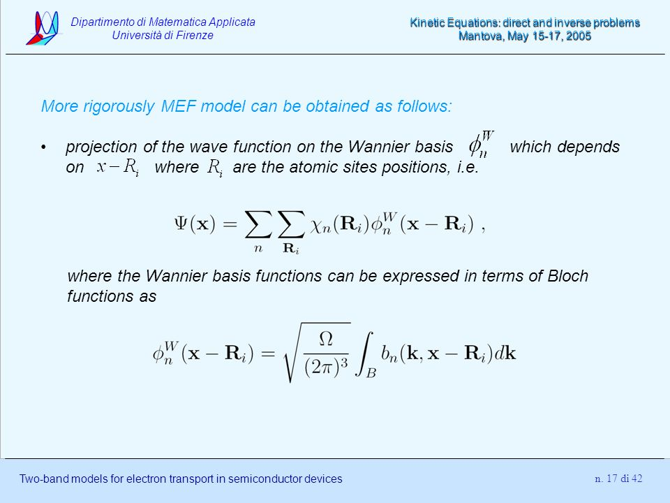 More rigorously MEF model can be obtained as follows: