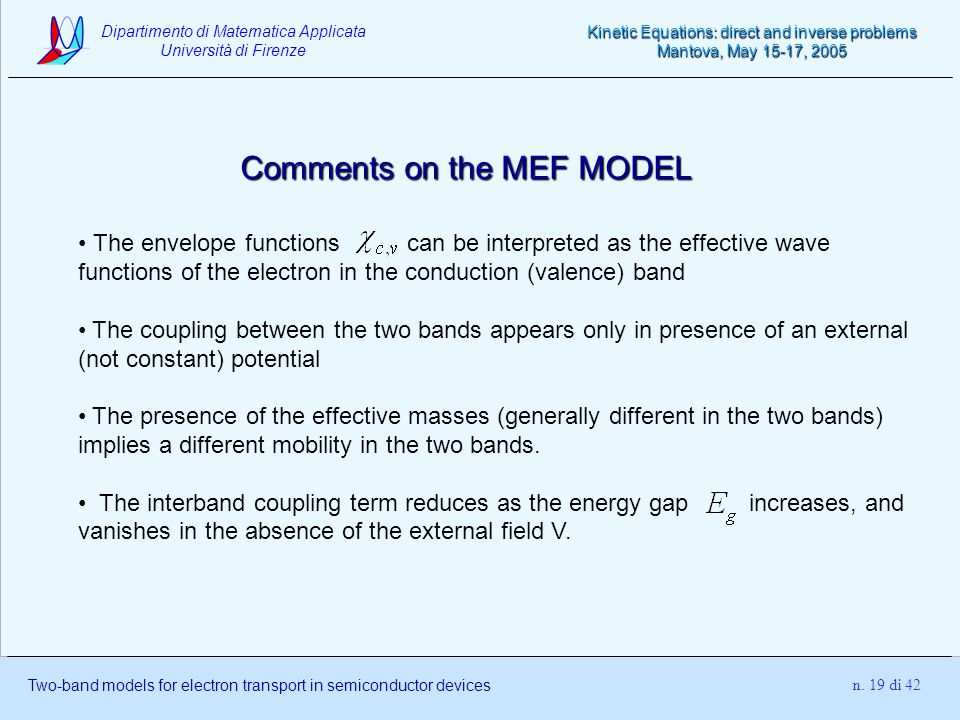 Comments on the MEF MODEL