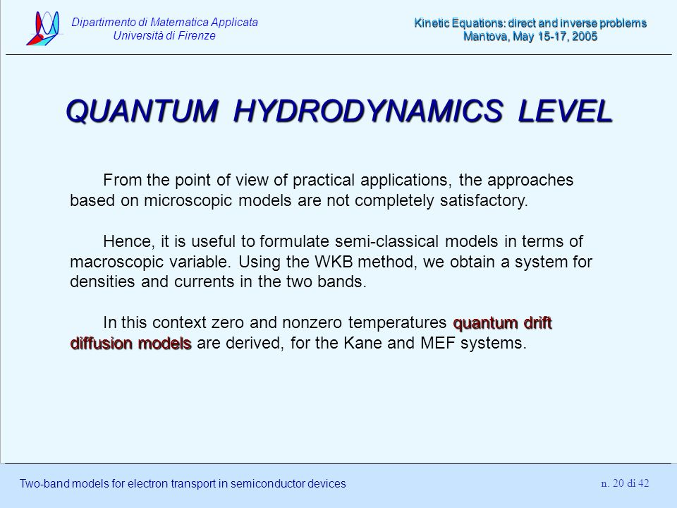 QUANTUM HYDRODYNAMICS LEVEL