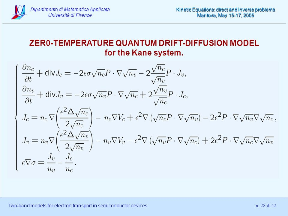 ZER0-TEMPERATURE QUANTUM DRIFT-DIFFUSION MODEL