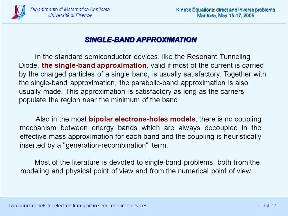 SINGLE-BAND APPROXIMATION