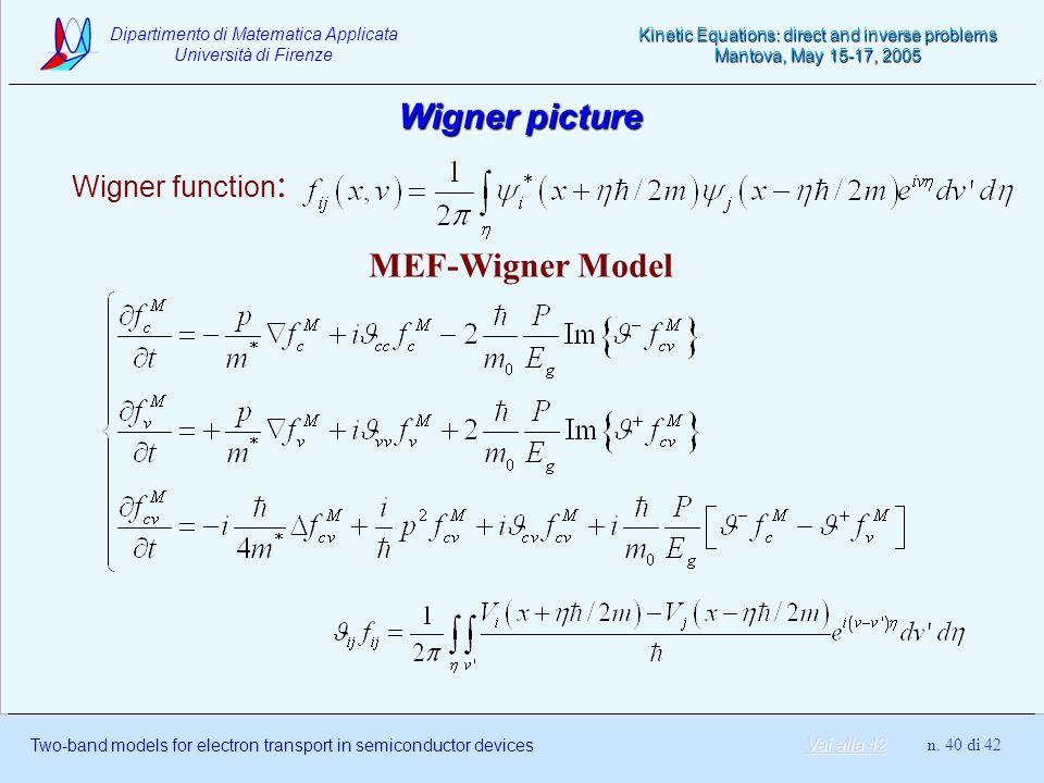 Wigner picture Wigner function: MEF-Wigner Model Vai alla 42