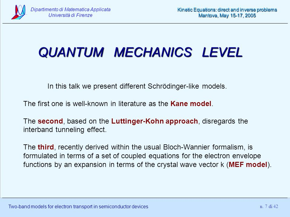 QUANTUM MECHANICS LEVEL