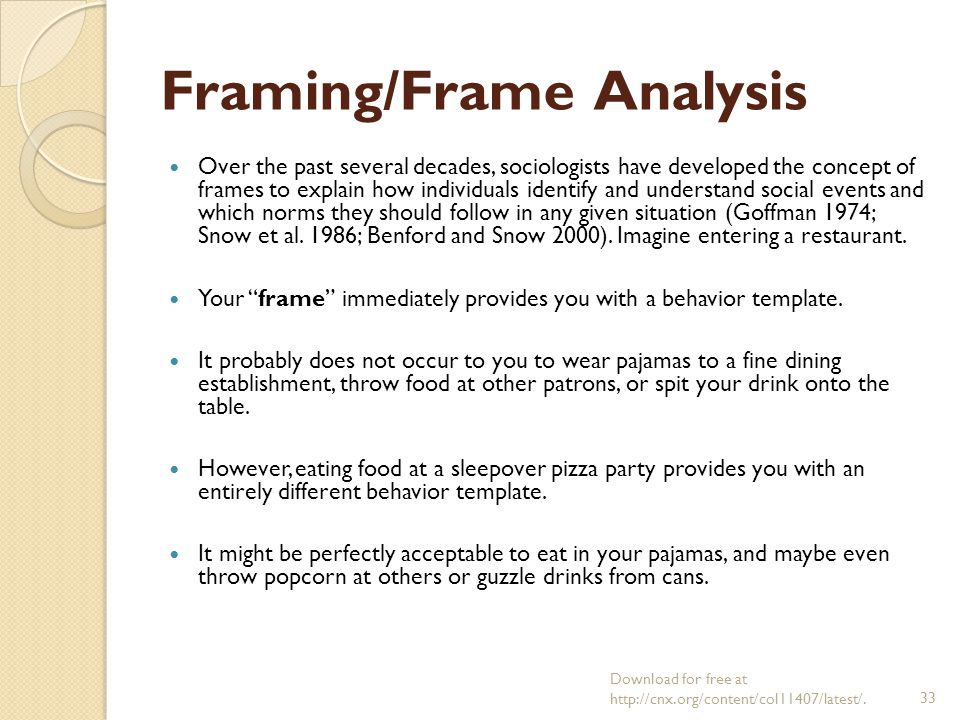 framing analysis an essay on the organization of experience A critical frame analysis of northern ontario's ‗forestry crisis' by ryan c l   frame analysis: an essay on the organization of experience.