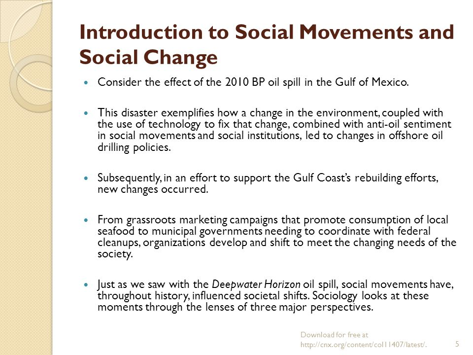 social movements social change and technology Technology empowers, but the way that people went about organizing social movements, for example the civil rights movements, built stronger connections and produced longer and more effective social change.
