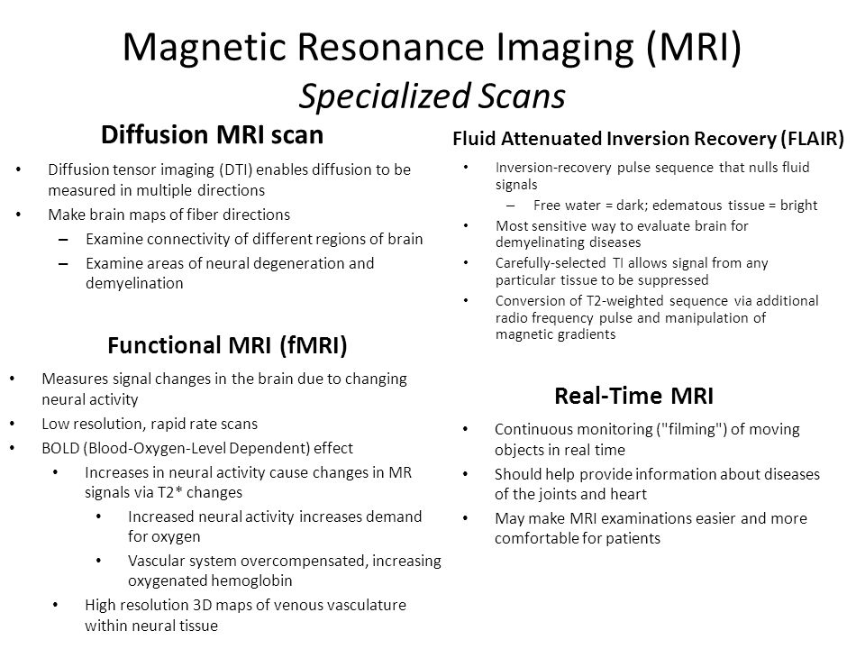 Magnetic Resonance Imaging (MRI) Specialized Scans