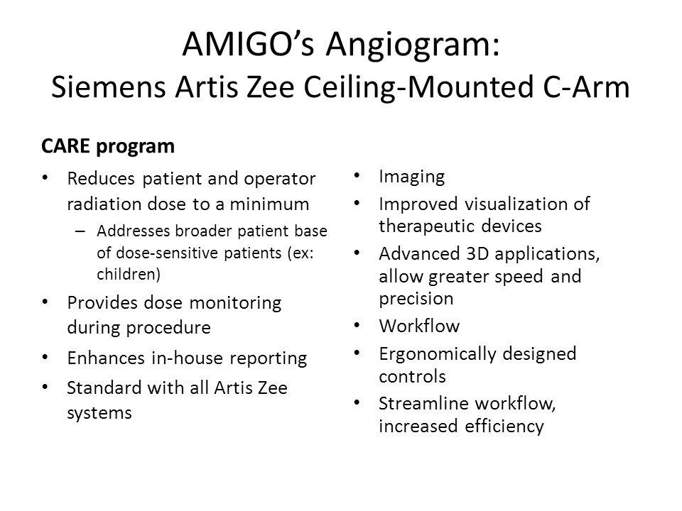 AMIGO's Angiogram: Siemens Artis Zee Ceiling-Mounted C-Arm
