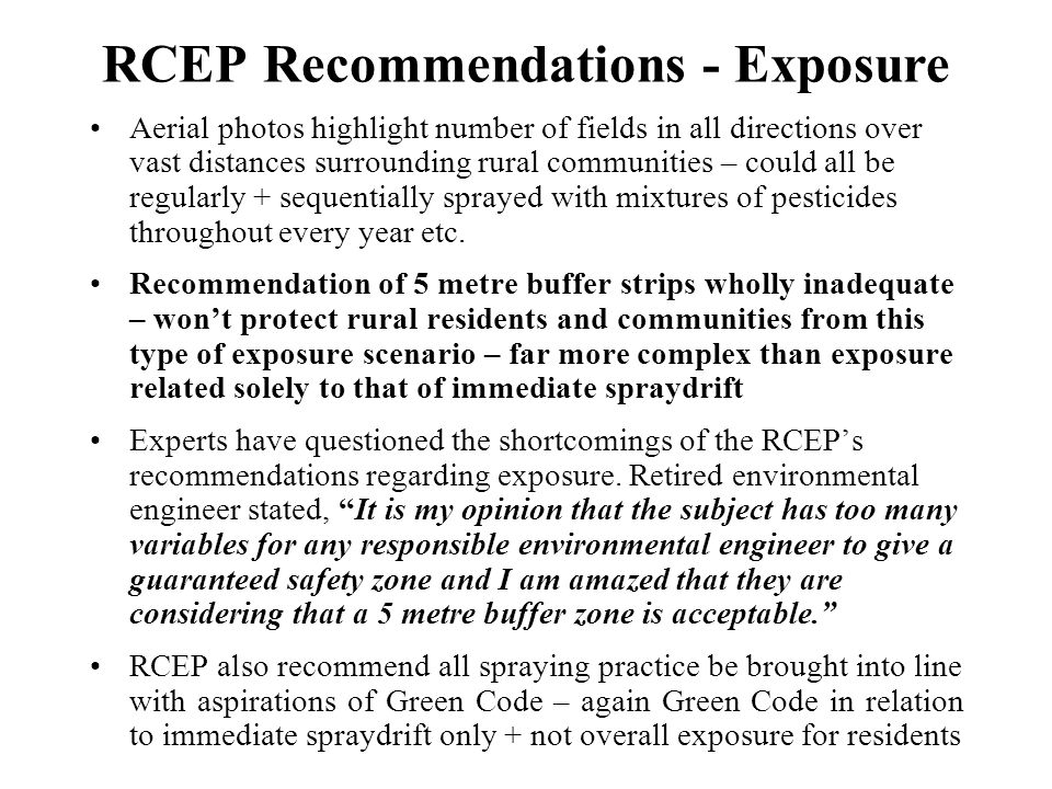 RCEP Recommendations - Exposure