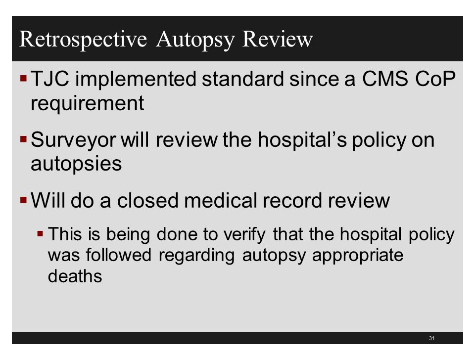 Medical Chart Review Policy: Joint Commission Tracers 2011 What Hospitals Need to Know - ppt ,Chart