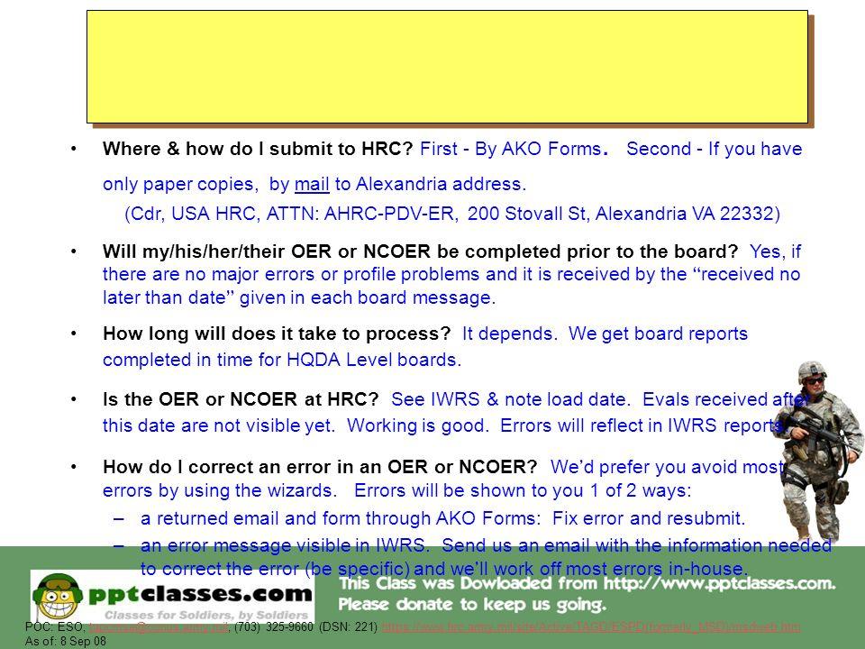 Military Evaluation (OER & NCOER) Information - ppt download