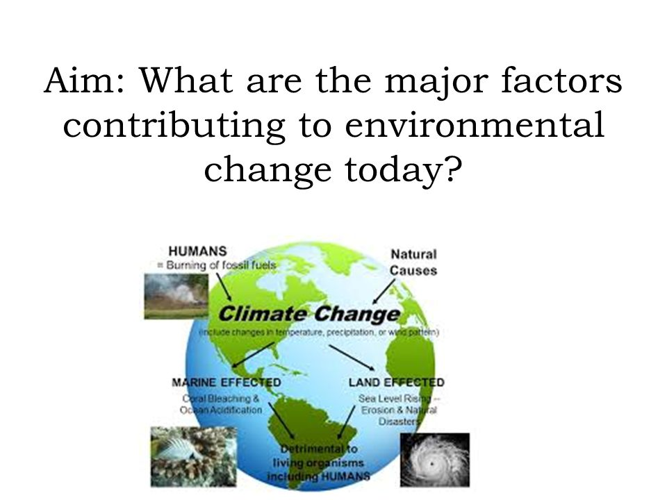 Aim: What are the major factors contributing to environmental change today