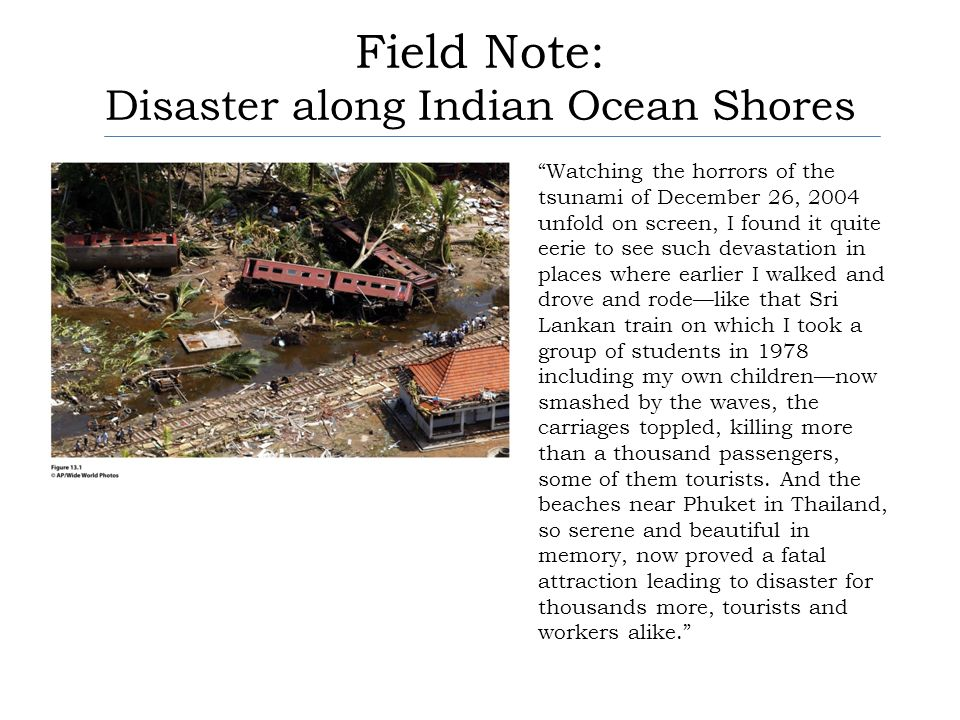 Field Note: Disaster along Indian Ocean Shores