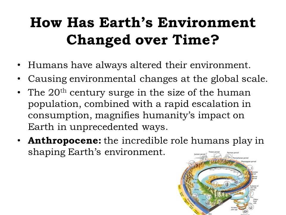 How Has Earth's Environment Changed over Time