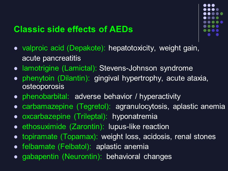 Neurontin Adverse Side Effects