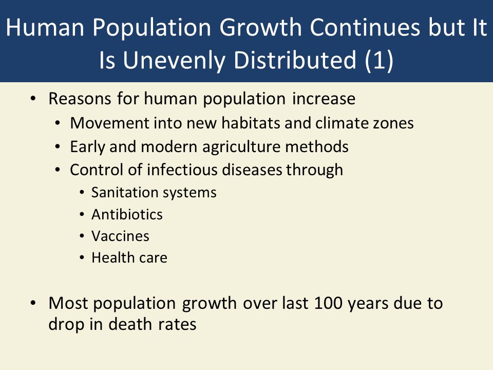 Human Population Growth Continues but It Is Unevenly Distributed (1)