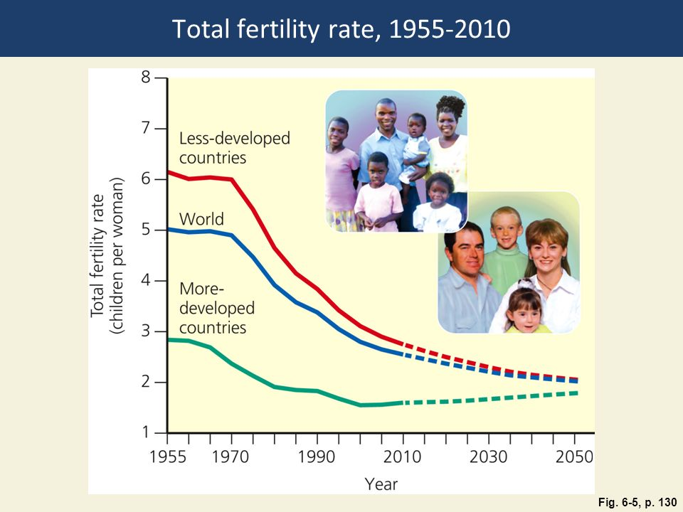 Total fertility rate,