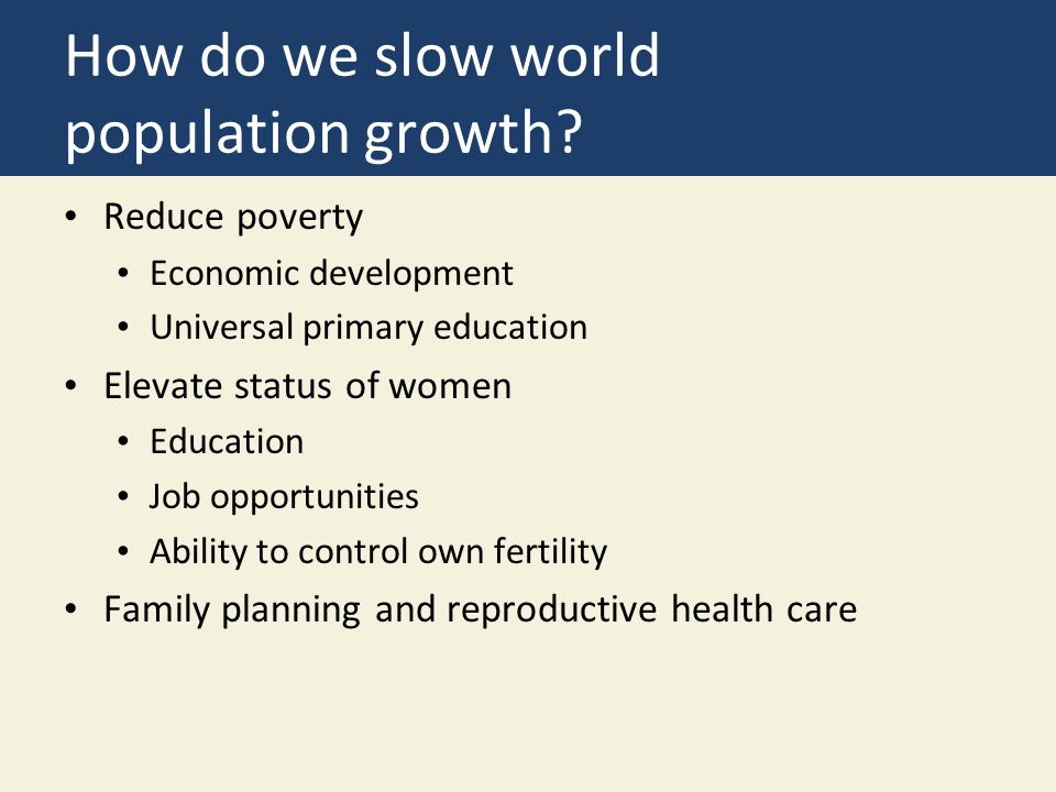 How do we slow world population growth