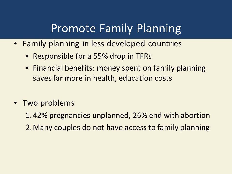Promote Family Planning