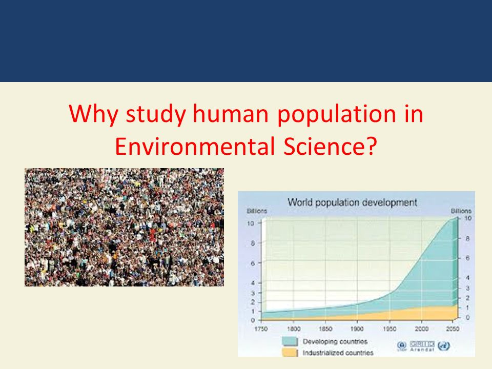Why study human population in Environmental Science
