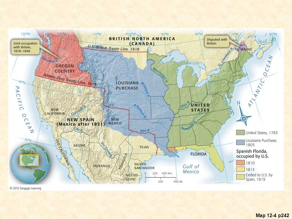 The Second War For Independence And The Upsurge Of Nationalism - Map Of The Us And Britain