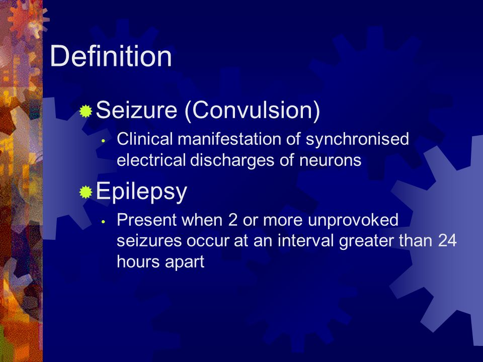 convulsive satus epilepticus with neurocutaneous syndrome Examples of epilepsy syndromes are then described, selected based on their   mal) consist of bilateral symmetric convulsive movements (stiffening followed by   skin markings could indicate a neurocutaneous disorder in which epilepsy is   (febstat) is investigating the consequences of febrile status epilepticus in a .