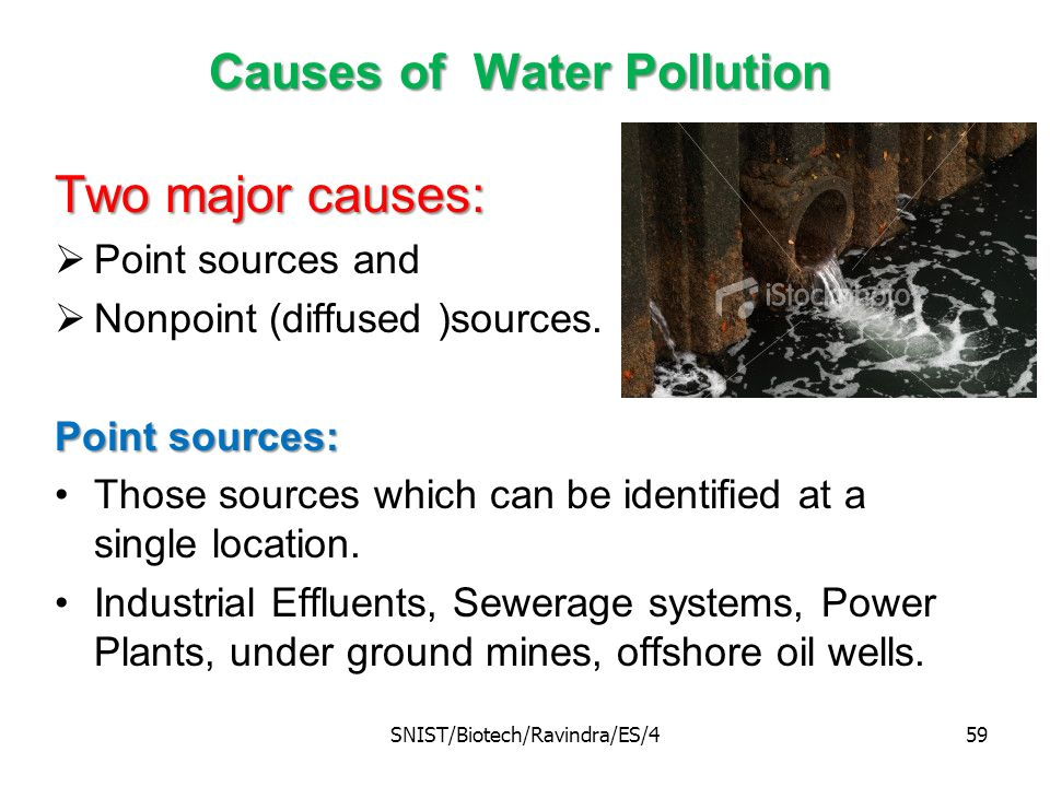 What are the major causes of water pollution?