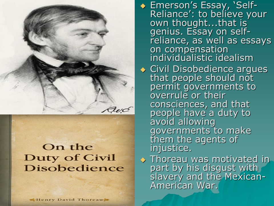 emerson self reliance essay pdf what is self reliance by ralph waldo emerson about reference com