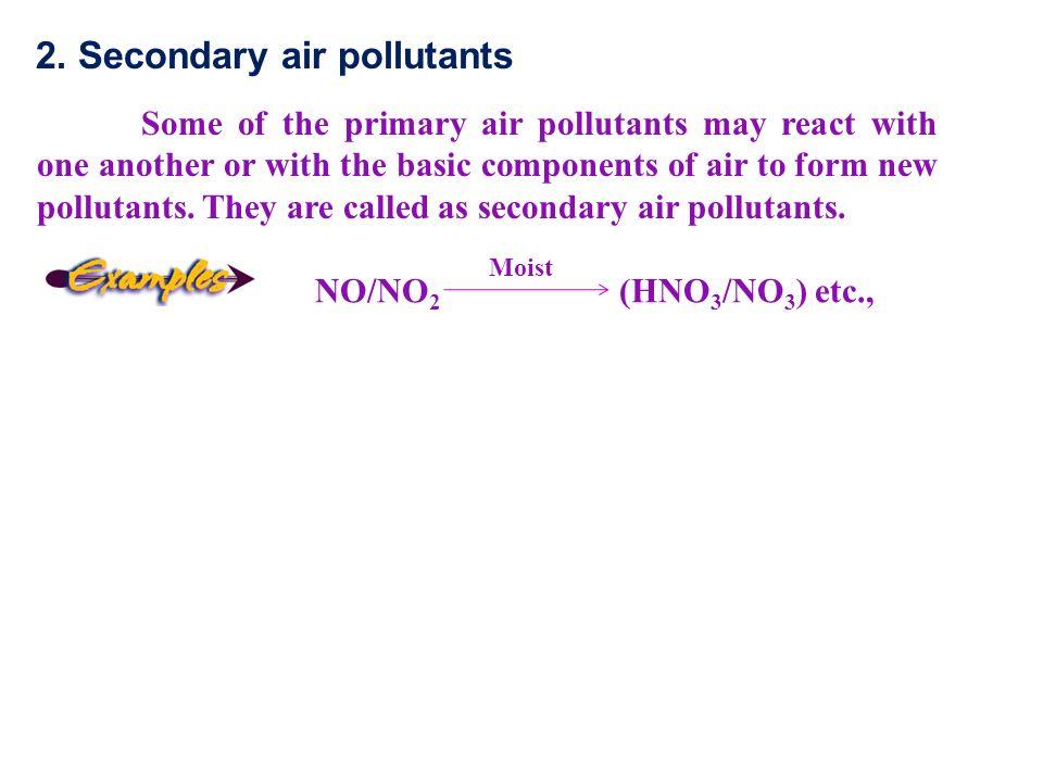 2. Secondary air pollutants