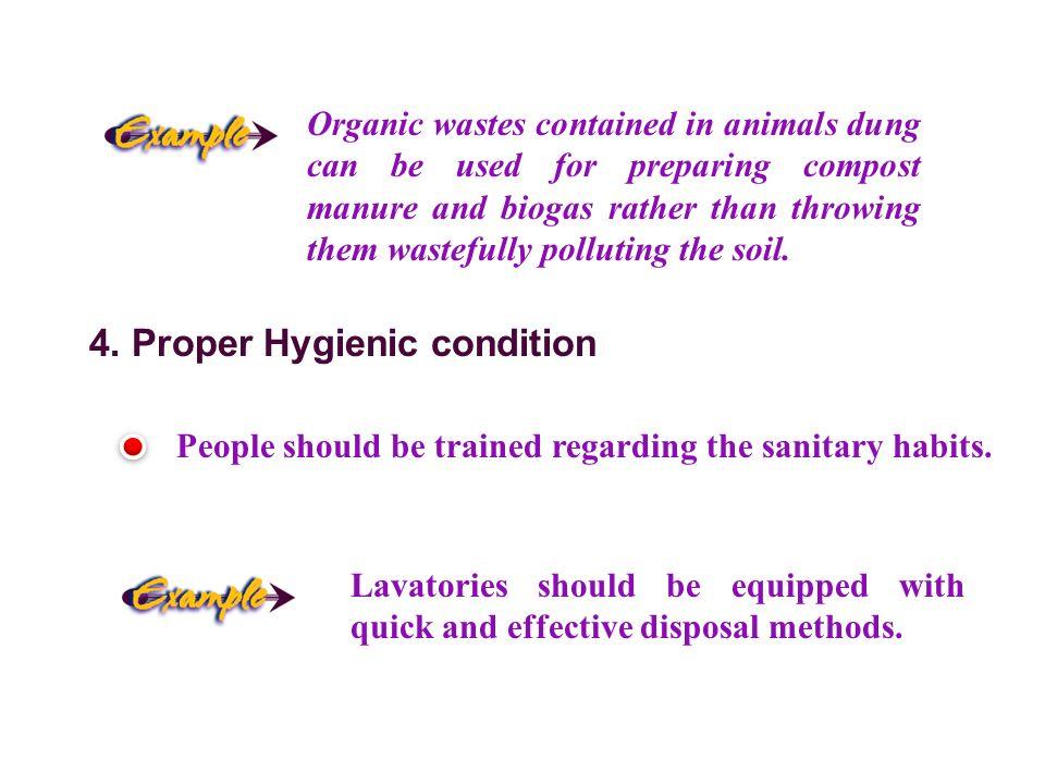 4. Proper Hygienic condition