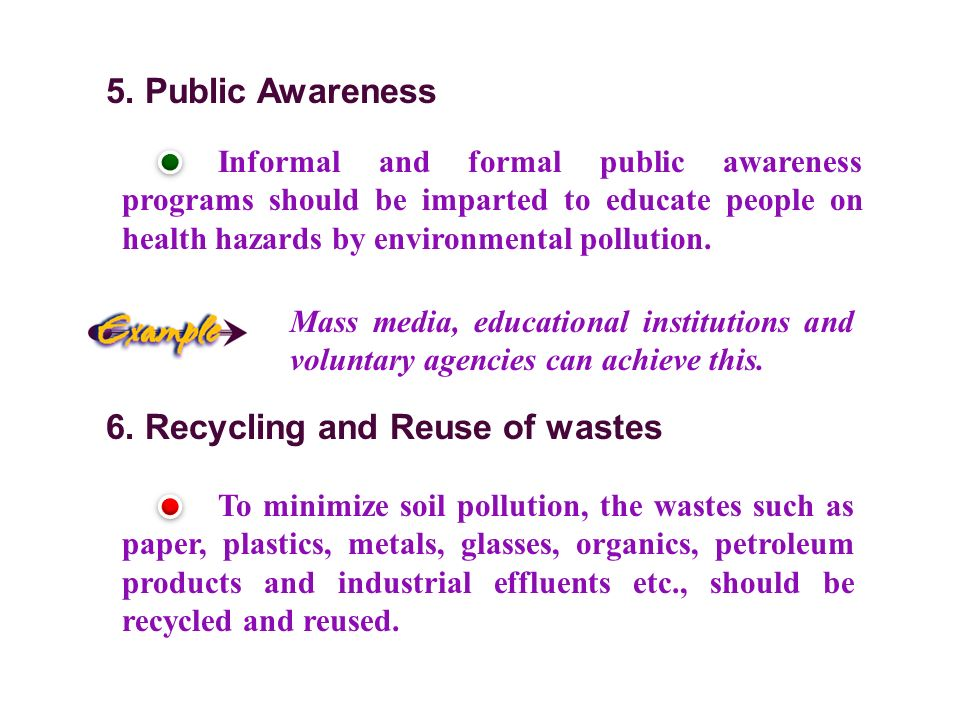6. Recycling and Reuse of wastes