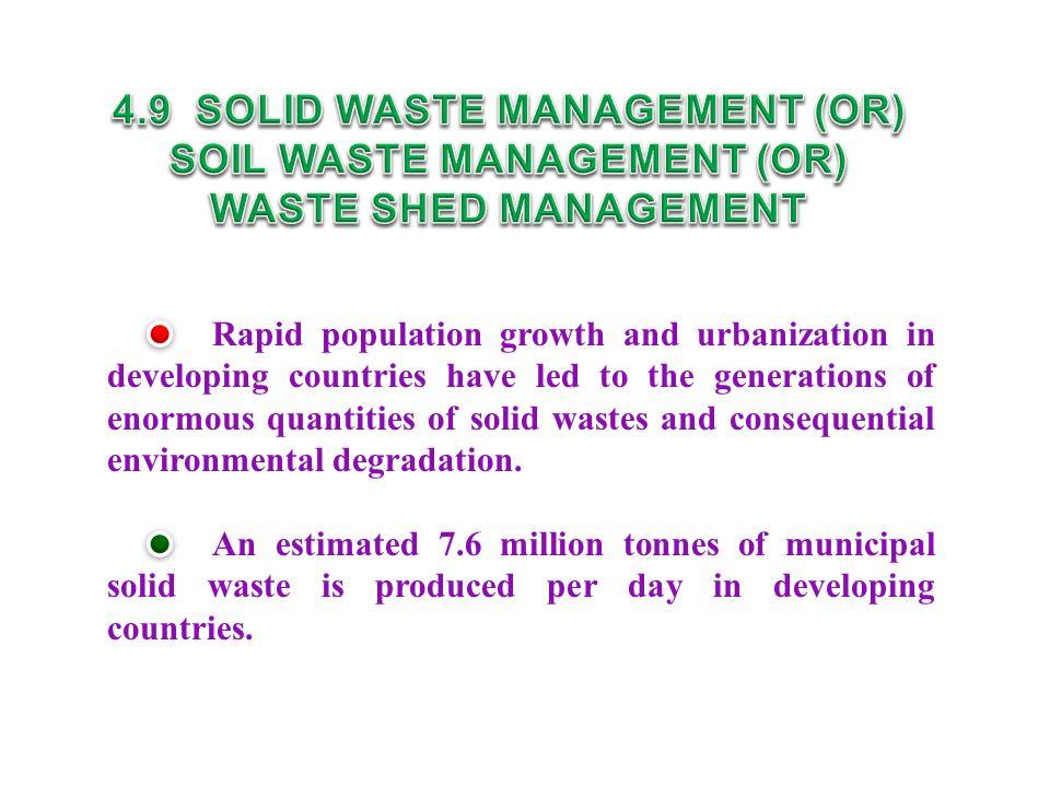 4.9 SOLID WASTE MANAGEMENT (OR) SOIL WASTE MANAGEMENT (OR)